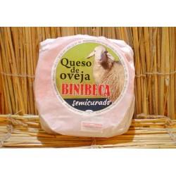 Queso semicurado de oveja Binibeca.